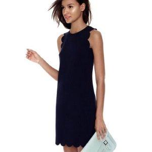Jcrew black scalloped dress